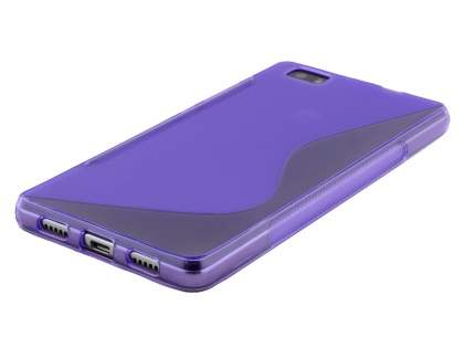 Wave Case for Huawei P8Lite - Frosted Purple/Purple