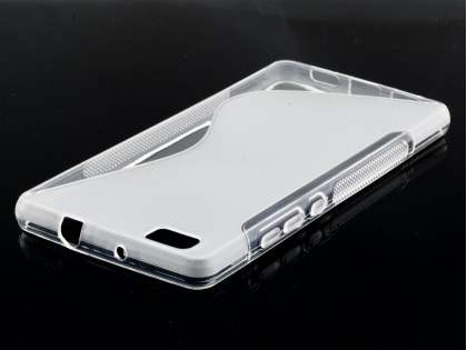 Wave Case for Huawei P8Lite - Frosted Clear/Clear