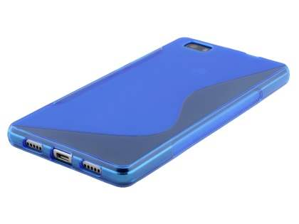 Wave Case for Huawei P8Lite - Frosted Blue/Blue