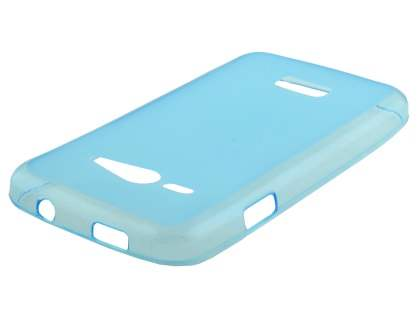 Frosted TPU Case for ZTE Telstra Tough Max - Blue