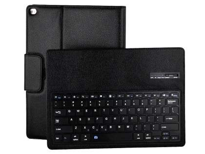 Synthetic Leather Bluetooth Keyboard Case for iPad Pro 12.9 - Black