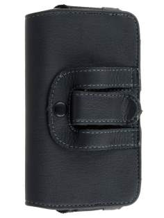 Synthetic Leather Belt Pouch for Sony Xperia E4g - Classic Black