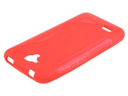 Wave Case for Huawei Y5/Y560 - Frosted Red/Red Soft Cover