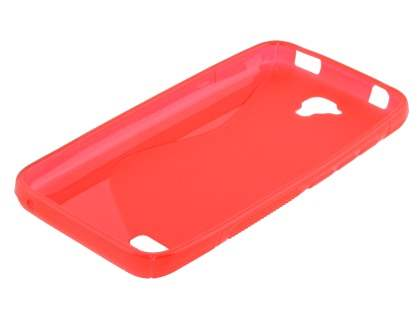 Wave Case for Huawei Y5/Y560 - Frosted Red/Red