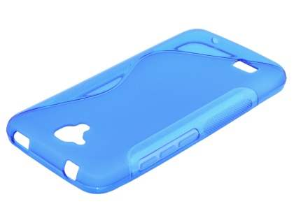 Wave Case for Huawei Y5/Y560 - Frosted Blue/Blue Soft Cover