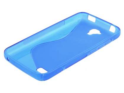 Wave Case for Huawei Y5/Y560 - Frosted Blue/Blue