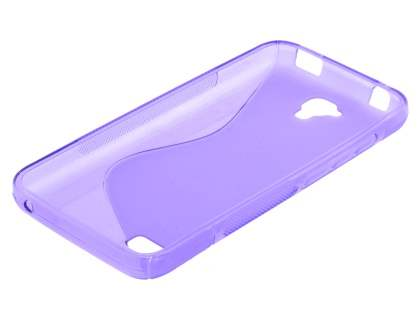 Wave Case for Huawei Y5/Y560 - Frosted Purple/Purple