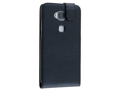 Synthetic Leather Flip Case for Huawei G8 - Black Leather Flip Case