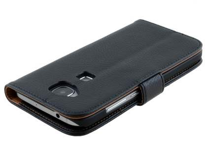 Synthetic Leather Wallet Case with Stand for Huawei G8 - Classic Black