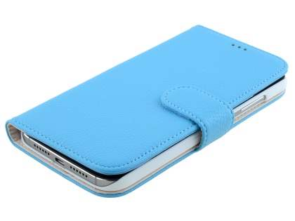 Synthetic Leather Wallet Case with Stand for Huawei G8 - Sky Blue