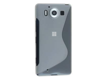 Wave Case for Microsoft Lumia 950 - Frosted Clear/Clear Soft Cover