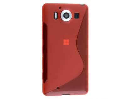 Wave Case for Microsoft Lumia 950 - Frosted Red/Red