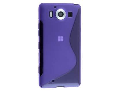 Wave Case for Microsoft Lumia 950 - Frosted Purple/Purple Soft Cover