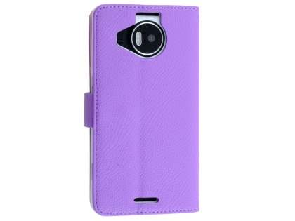 Slim Synthetic Leather Wallet Case with Stand for Microsoft Lumia 950 XL - Purple Leather Wallet Case