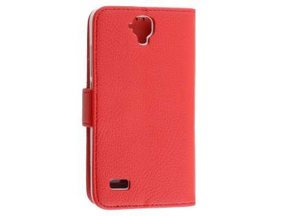 Synthetic Leather Wallet Case with Stand for Huawei Y5/Y560 - Red Leather Wallet Case