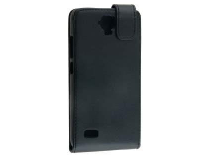 Synthetic Leather Flip Case for Huawei Y5/Y560 - Black