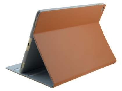 Premium Genuine Leather Portfolio Case with Stand for iPad Pro 12.9 - Brown Leather Flip Case