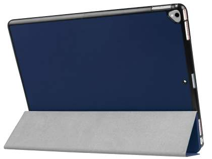 Premium Slim Synthetic Leather Flip Case with Stand for iPad Pro 12.9 - Dark Blue Leather Flip Case
