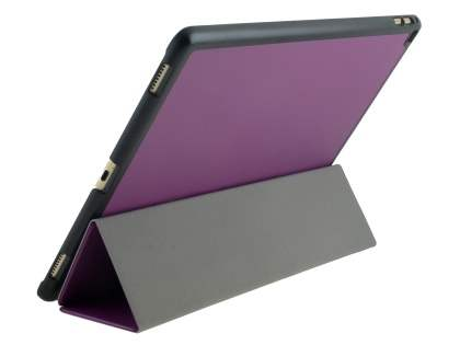 Premium Slim Synthetic Leather Flip Case with Stand for iPad Pro 12.9 - Purple Leather Flip Case