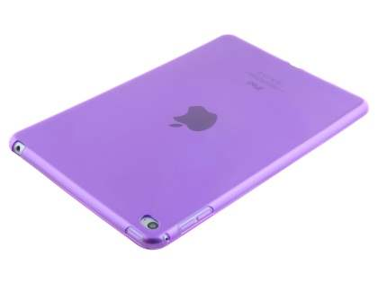 Colour TPU Gel Case for iPad Mini 1/2/3 - Purple Soft Cover