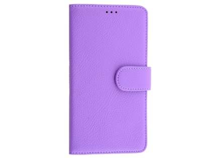 Slim Synthetic Leather Wallet Case with Stand for Microsoft Lumia 950 XL - Purple