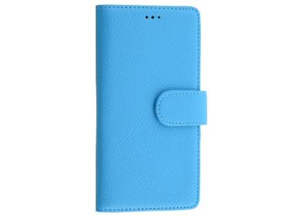 Slim Synthetic Leather Wallet Case with Stand for Microsoft Lumia 950 - Sky Blue