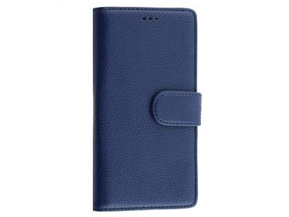 Slim Synthetic Leather Wallet Case with Stand for Microsoft Lumia 950 - Dark Blue