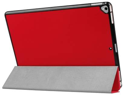 Premium Slim Synthetic Leather Flip Case with Stand for iPad Pro 12.9 - Red Leather Flip Case