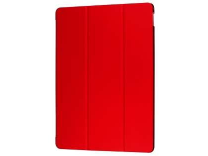 Premium Slim Synthetic Leather Flip Case with Stand for iPad Pro 12.9 - Red