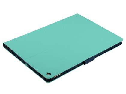 Mercury Colour Fancy Diary Case with Stand for iPad Pro 12.9 - Mint/Navy