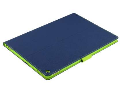 Mercury Colour Fancy Diary Case with Stand for iPad Pro 12.9 - Navy/Lime