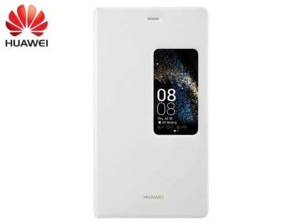 Genuine Huawei P8 Smart View Flip Case - Ivory