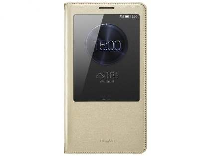 Genuine Huawei Ascend Mate7 Smart View Flip Case - Gold S View Cover