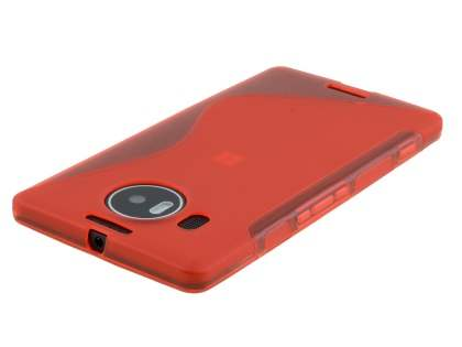 Wave Case for Microsoft Lumia 950 XL - Frosted Red/Red