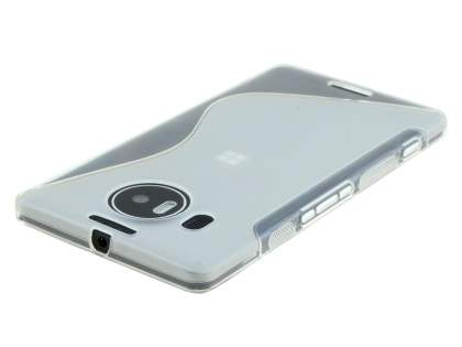Wave Case for Microsoft Lumia 950 XL - Frosted Clear/Clear