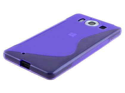 Wave Case for Microsoft Lumia 950 - Frosted Purple/Purple