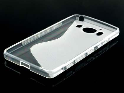 Wave Case for Microsoft Lumia 950 - Frosted Clear/Clear