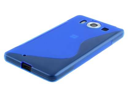 Wave Case for Microsoft Lumia 950 - Frosted Blue/Blue