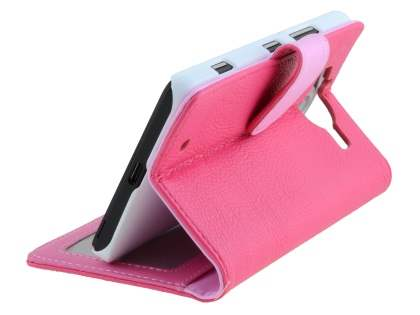 Slim Synthetic Leather Wallet Case with Stand for Microsoft Lumia 950  - Pink