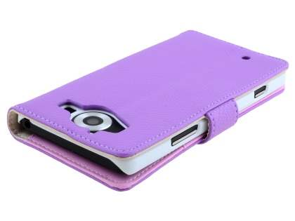 Slim Synthetic Leather Wallet Case with Stand for Microsoft Lumia 950  - Purple
