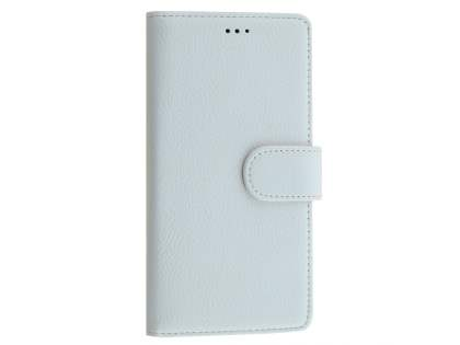 Slim Synthetic Leather Wallet Case with Stand for Microsoft Lumia 950  - Pearl White