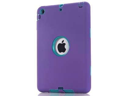 Rugged Impact Case for iPad Mini 1/2/3 - Purple/Teal Impact Case