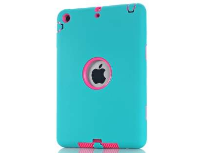Rugged Impact Case for iPad Mini 1/2/3 - Sky Blue/Pink Impact Case