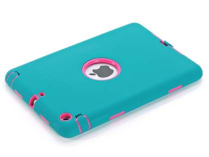 Rugged Impact Case for iPad Mini 1/2/3 - Sky Blue/Pink