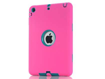 Rugged Impact Case for iPad Mini 1/2/3 - Pink/Teal Impact Case