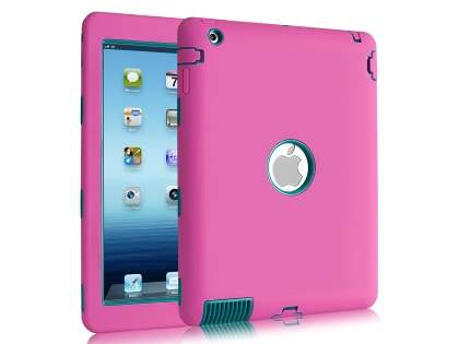 Rugged Impact Case for iPad 2/3/4 - Pink/Teal Impact Case