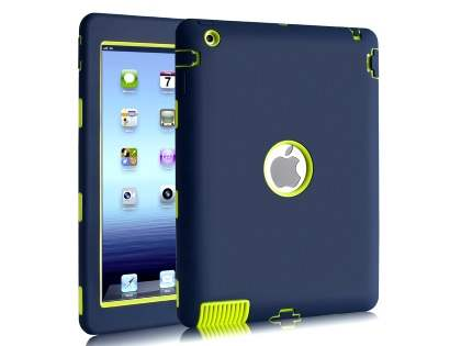 Rugged Impact Case for iPad 2/3/4 - Navy/Lime Impact Case