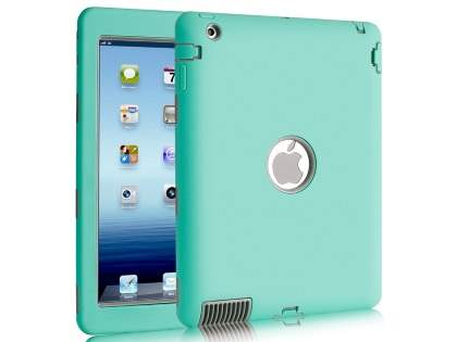 Rugged Impact Case for iPad 2/3/4 - Mint/Grey Impact Case
