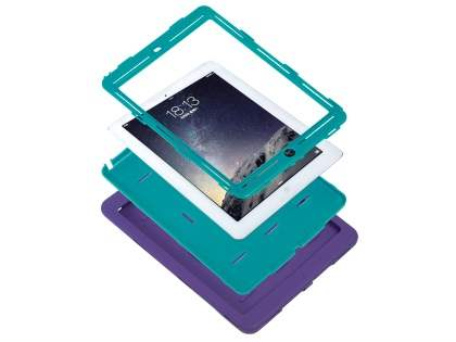 Rugged Impact Case for iPad Air 1st Gen - Purple/Teal