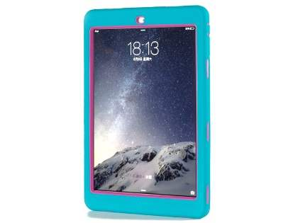 Rugged Impact Case for iPad Air 1st Gen - Sky Blue/Pink